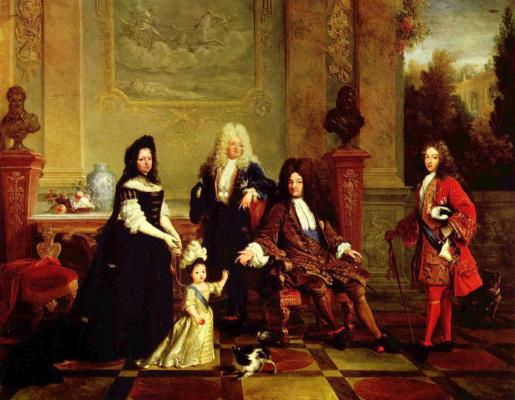 Портрет Людовика XIV и его наследников
