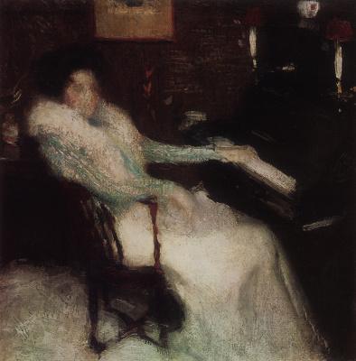 Igor Grabar. The lady at the piano