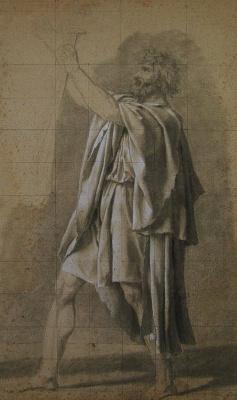 "Жак-Луи Давид. Старый Гораций (""Эскиз к клятве Горациев"")"