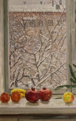 Eugene Alexandrovich Kazantsev. Winter window.