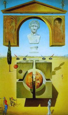 Salvador Dali. Splitting the atom (Dematerialization under the nose of Nero)