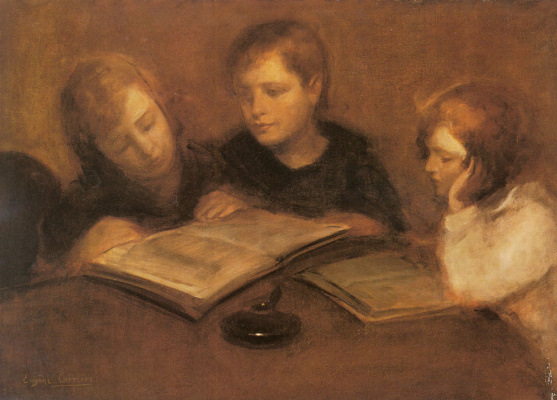 Eugene Carrier. Reading girls