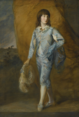 Thomas Gainsborough. A young page in blue (Blue page)