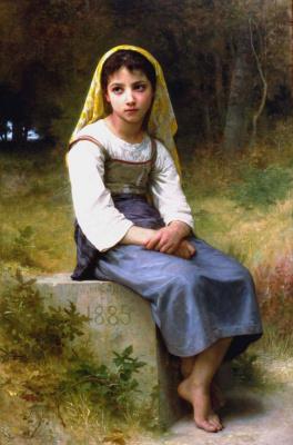William-Adolphe Bouguereau. Waiting