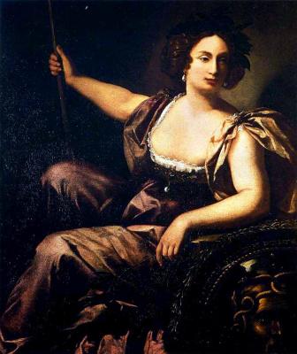 Artemisia Gentileschi. Minerva