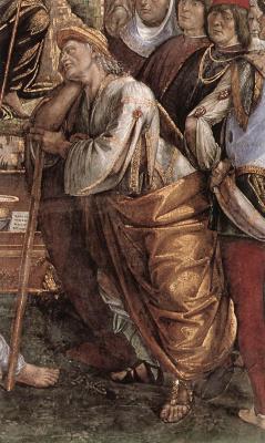 Лука Синьорелли. Завет Моисея и смерть (фрагмент)