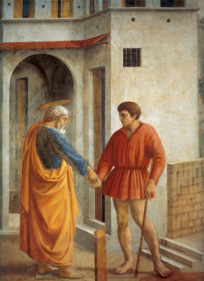 Tommaso Masaccio. Miracle with a statir (Payment of taxes). Fragment: a tax collector
