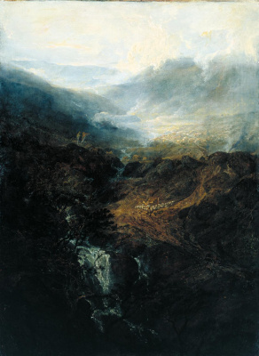 Joseph Mallord William Turner. Morning on the Coniston hills in Cumberland