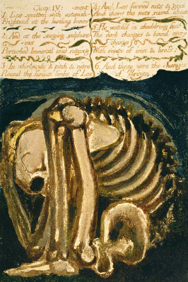 William Blake. The first book Urizen. The skeleton (the fruit) in the cave (the womb)