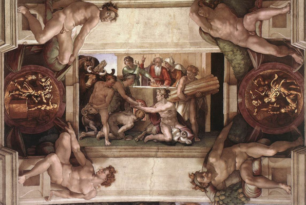 Michelangelo Buonarroti. The Sacrifice Of Noah