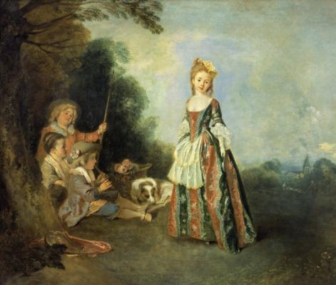 Antoine Watteau. Dance