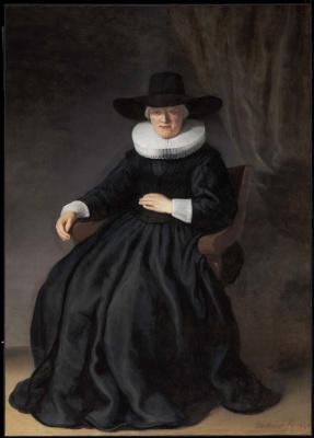 Rembrandt Harmenszoon van Rijn. Maria Bockenolle (Wife of Johannes Elison)