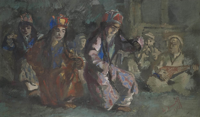 Alexander Yakovlev. Dancers of the World of Hunza. 1931