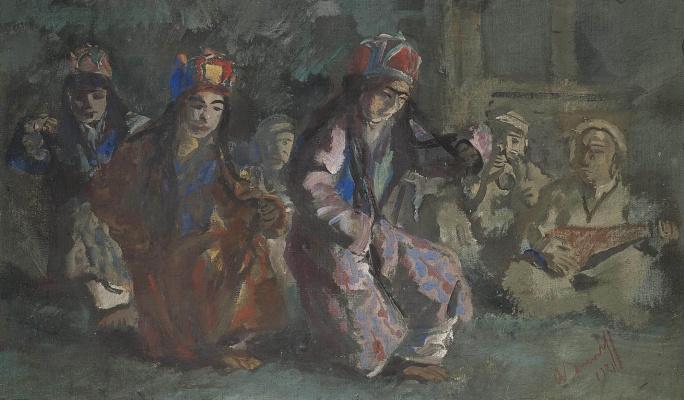 Alexander Yakovlev. Dancers of the World of Hunza. 1931