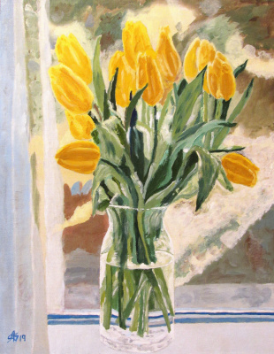 Artashes Vladimirovich Badalyan. Window bouquet - x-kart.-m - 45x35