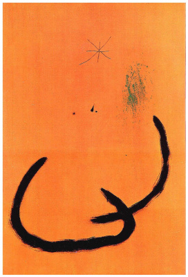Joan Miro. Pink drop of water on the snow