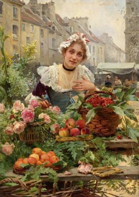 Продавщица цветов.1898