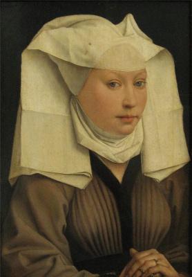 Rogier van der Weyden. Portrait of a Young Woman in a Pinned Hat