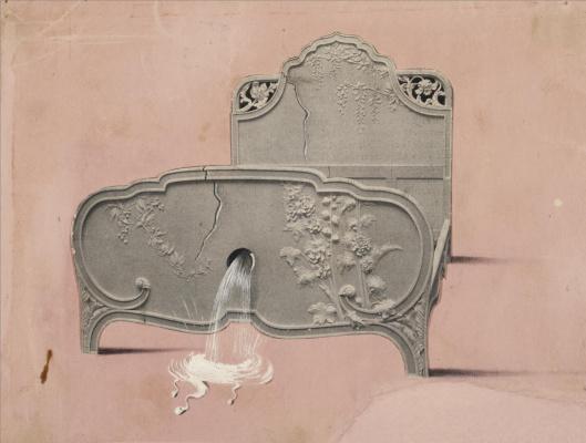 Сальвадор Дали 1904 - 1989 Испания. Кровать с фонтаном. 1935-1936