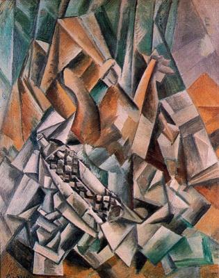 Пабло Пикассо. Натюрморт с бутылкой анисового ликера