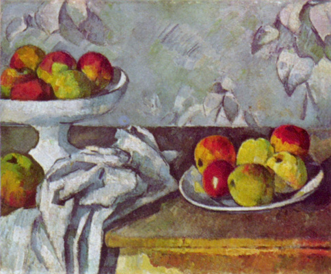 Paul Cezanne. Still life with apples and a dish of fruit