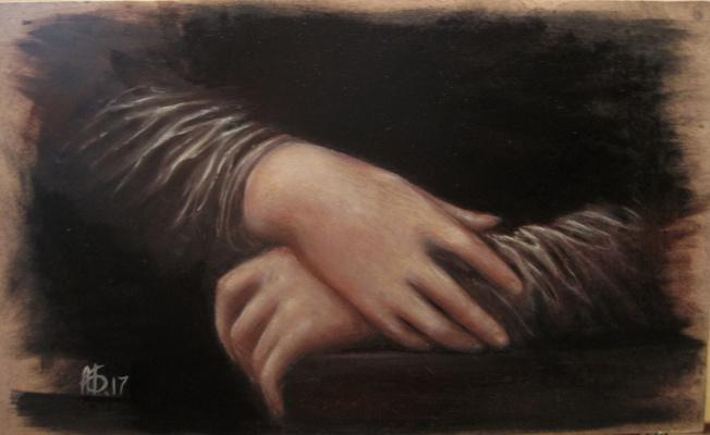 Alexandra Berezovenko. ***) фрагмент по мотивам картины «Джоко́нда»