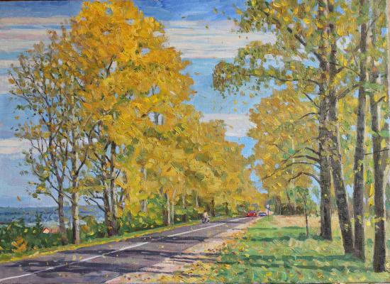 Eugene Alexandrovich Kazantsev. Alley poplars. Pushchino.