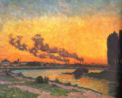 Arman Guillaume. Sunset at Ivry