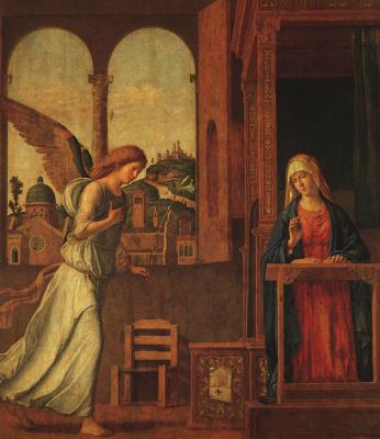 Giovanni Battista Cima da Conegliano. The Annunciation Of The Archangel