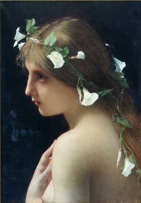 Jules Joseph Lefebvre. Nymph with flowers