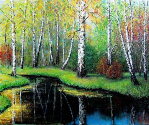 Vladimir Skvortsov. Birch forest