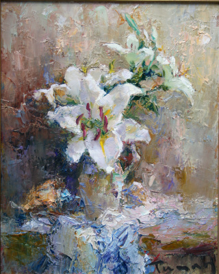 Tuman Art Gallery Tumana Zhumabayeva. Lilies