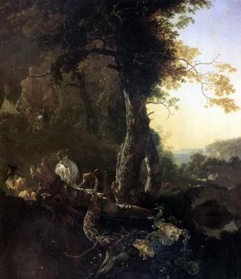 Адам Пейнакер. Пейзаж на восходе солнца