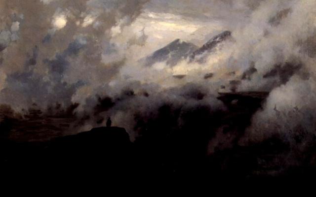 Николай Александрович Ярошенко. Эльбрус в облаках