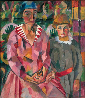 Aristarkh Vasilyevich Lentulov. Portrait of the wife and daughter of the artist