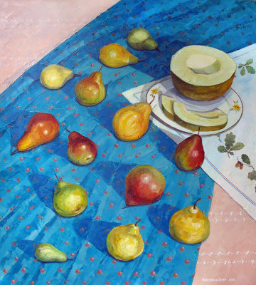 Olesya Rapotkin. Still life with pears