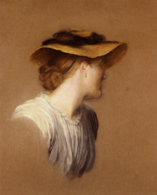 George Frederick Watts. Portrait of the artist's wife Mary