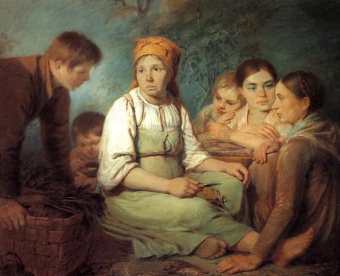 Alexey Gavrilovich Venetsianov. Cleansing beet