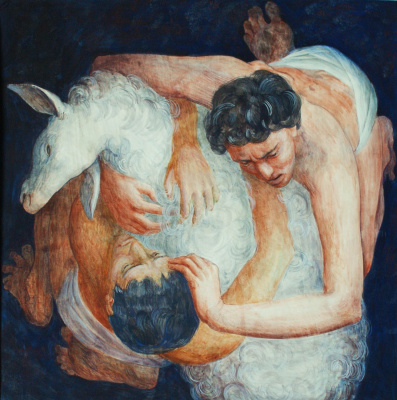 "Polina Raeva. ""Who is right? (Cain and Abel)"", sheet 2 of the series ""Bible Stories"""