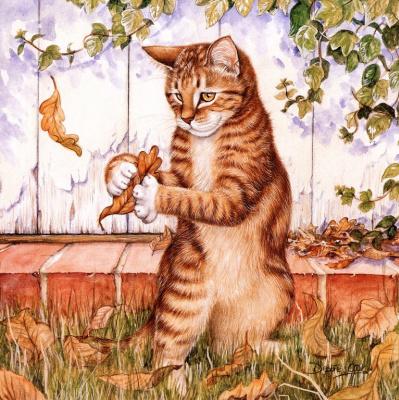 Дебби Кук. Игривый кот