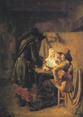 Pieter de Hooch. The dice