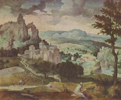 Корнелис Массейс. Св. Иероним в пейзаже