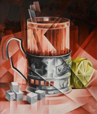 Vasily Vyacheslavovich Krotkov. Tea. Kubofuturizm