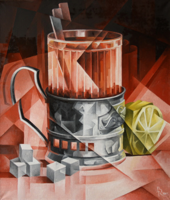 Vasily Krotkov. Tea. Kubofuturizm