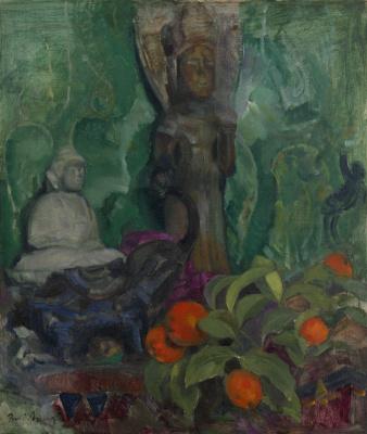 Boris Izrailevich Anisfeld. Buddha and oranges.