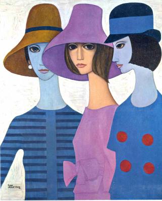 Маргарет Кин. Три дамы в шляпах
