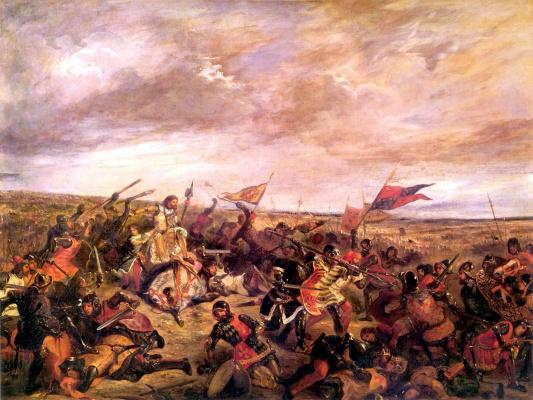Эжен Делакруа. Король Иоанн II Добрый в битве при Пуатье 19 сентября 1356 года