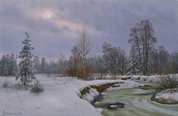 Alexander Vasilyevich Zoryukov. December. Thaw