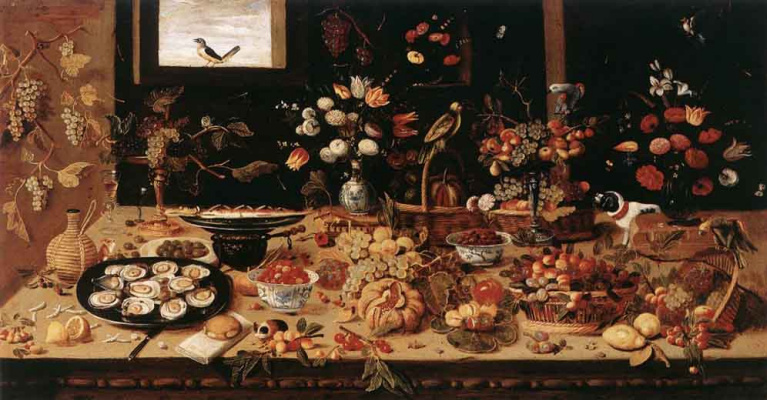 Jan van Kessel Elder. Still life