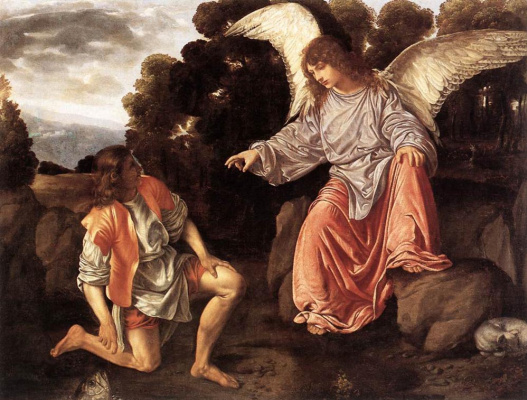 Giovanni Girolamo Savoldo. Tobias and the angel